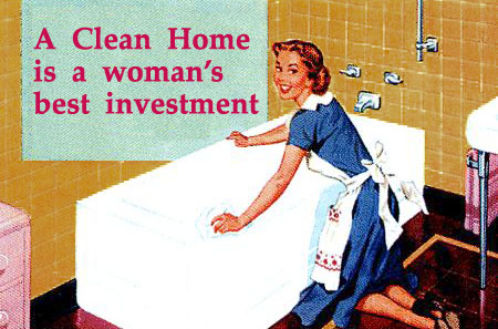 A clean home is a Stepford Wife's best investment