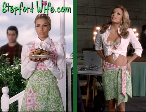 Eva Longoria in Desperate Housewives model the Stepford Wife homemaker look vs the hot wife look.