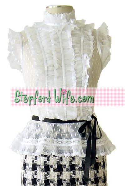 stepford Wife ruffle and ribbon blouse at www.stepfordwife.com