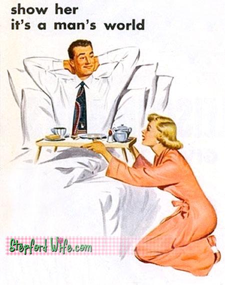 woman must serve man